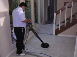 Grout Cleaning Atlanta - Rinsing