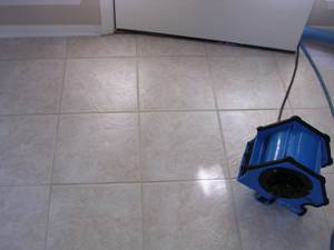 Grout Cleaning in Atlanta - Drying the Floor