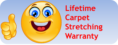 Atlanta's only lifetime carpet stretching warranty