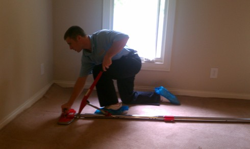Carpet Stretching with Proper Tools