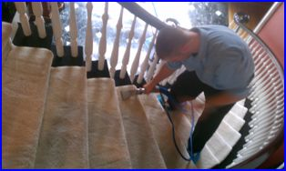 Cleaning Carpeted Stairs - Upscale Atlanta Home