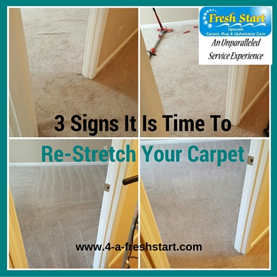 3 signs carpet restretched