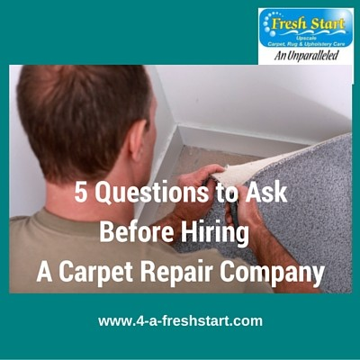5 questions to ask when hiring a carpet repair company